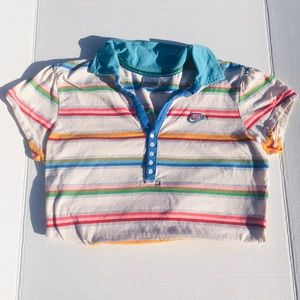 Vintage Nike Pastel Polo Shirt grey tag